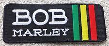 BOB MARLEY STRIPE PATCH Cloth Badge/Emblem/Insignia Biker Jacket Bag Rastafarian