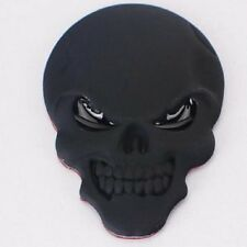 DZ821 Metal 3D demon Skull CrossBones car Badge Emblem Car sticker ~black~ ^