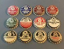 Lot of 2 Black /& White 7 UP  Vintage Unused Soda Pop Bottle Caps Cork Lined Lids