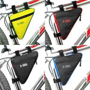 B-SOUL 4 Colors Waterproof Triangle Cycling Bicycle Bags Front Tube Frame Bag