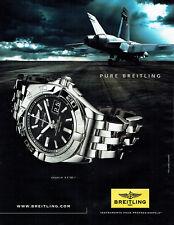 Publicité Advertising 058  2010   montre Breitling  Galactic 41