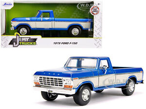 1979 FORD F-150 PICKUP TRUCK STOCK CANDY BLUE MET. & CREAM 1/24 CAR JADA 31587
