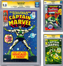 CAPTAIN MARVEL #1-2-3 CGC-SS 9.0-9.0-7.5 SIGNED BY GENE COLAN & STAN LEE 1968