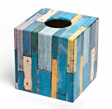 Vintage Wood Tissue Box Cover / Holder wooden handmade in UK