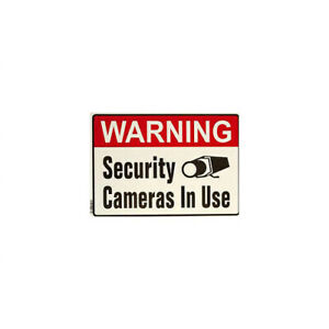 Amview Indoor Surveillance Signs English Metal Out CCTV Security Camera Si6