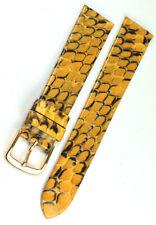 18mm echt Python Schlange Uhrenarmband handmade Graf Germany Band Strap