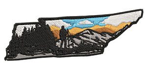 Hiking Tennessee State Embroidered Patch Iron/Sew-On Applique Travel Souvenir