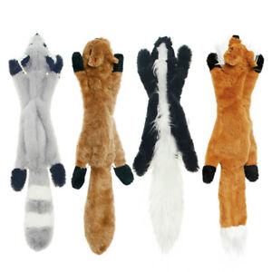 Squeak Pet Wolf Rabbit Animal Plush Toy Dog Chew Squeaky Whistling Involved