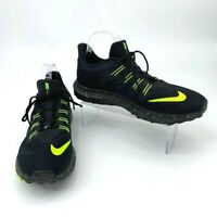 Nike Running Shoes Men's Size 9.5 Quest 2 Black with Neon Yellow Athletic Sport