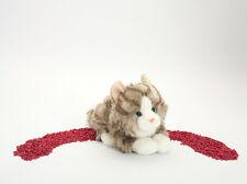 Teddy Hermann Plüschtier Katze grau liegend 20 cm