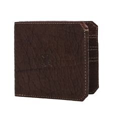 Parabellum Bifold Men's Bison & Italian Leather Wallet # BROWN