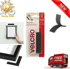 Sticky Back Tape Self Adhesive Hook Loop 4 Sets VELCRO Brand Waterproof Black