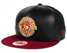 Cleveland Cavaliers NBA New Era 9FIFTY Faux Leather Adjustable Snapback Cap Hat