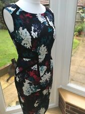 👗MARKS & SPENCER Black Floral Wiggle Dress UK12👗