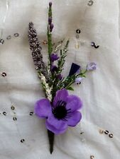 NEW HEATHER, LAVENDER,BUTTONHOLE.WEDDING,.PARTY,GUESTS,OCC.HANDMADE