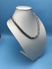 """HEAVY BALI BYZANTINE 925 STERLING SILVER MENS NECKLACE KING CHAIN 22.5"""" 199 grs"""