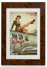 Art Deco - PIN UP Girl World War 2 Vintage   Framed Print