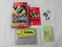 Y2703 Nintendo Super Famicom Mario's Super Picross Japan SFC SNES w/box