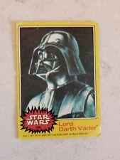 Star Wars Series 3 (Yellow) Topps 1977 Trading Card # 195 Lord Darth Vader
