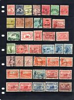 1913 to 1953 - ( 3 PAGES ) 128 Assorted STAMPS Used - HIGH Catalogue VALUE.