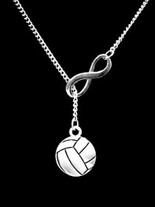 Volleyball Necklace Sports Gift Mom Daughter Lariat Jewelry