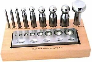 Round and Oval Dapping Tool Set 3 to 24 mm