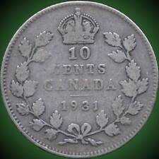1931, 1940 & 1943 Canada 10 Cent Silver Coins (2.33 Grams .800 Each)