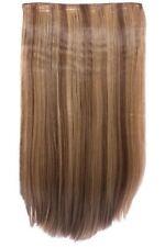Extensions de cheveux bruns longs raides pour femme