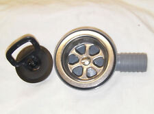 BOAT SHOWER / SINK 90 DEGREE SHALLOW FIT DRAIN 25mm HOSE FOR KITCHEN AND SINKS.