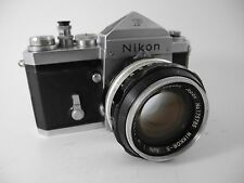NIKON F 6447798 HOLLOW TIP WIND  WITH 58MM/1.4 LENS ALL WORKING GREAT TO SHOOT