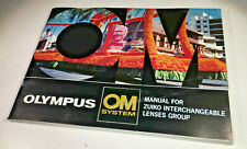 Manual for the Olympus OM Zuiko lens range & system from 1976
