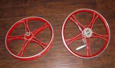 """Vintage Lester Old School 20"""" Mag BMX Bike Bendix 76 Coaster Bike Wheel Set"""