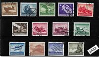 #6433   Complete stamp set / 1944 Military set / Third Reich era / WWII Germany