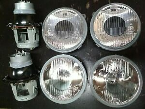 BMW E30 headlights ellipsoid Euro Low-High beams+projectors HELLA !NEW! OEM