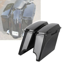Extended Saddlebags Fits For Harley Touring Electra Street Glide 93-13 Unpainted