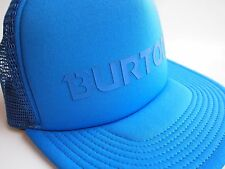Burton Solid Blue Text Logo Mesh Snapback Trucker Hat Cap