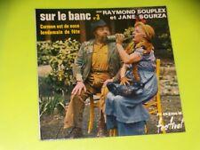 45 RPM Sp - on le Bench N°3 - Raymond Souplex & Jane Sourza - Motorcyles 1960