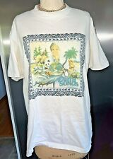 Vintage John Denver Earth Songs T Shirt XL JD1 90s White Rare Country Music