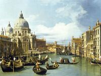 Canaletto The Entrance To Grand Canal Venice Old Art Picture Canvas Art Print