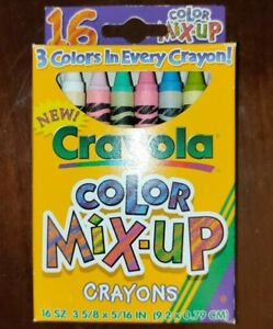 Rare Discontinued Crayola Color Mix-Up Crayons 16 count 1997 Made in USA