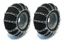 PAIR 2 LINK TIRE CHAINS 15X6.00X6 FOR GARDEN TRACTORS  RIDERS  SNOWBLOWER