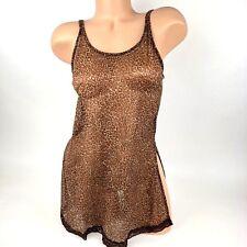 Victoria's Secret Camisole Slip Size S Small Nightgown Leopard Animal Print A35