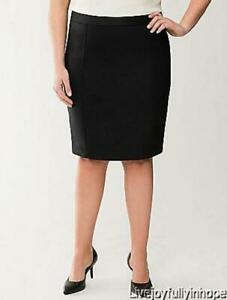 LANE BRYANT ~ New NWT Size 28 ~ DOUBLE WEAVE Straight Pencil Wiggle Career Skirt