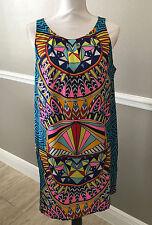 Mara Hoffman Pleat Printed Shift Dress Size Large