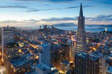 San Francisco California Skyline at Sunset Photo Art Print Poster 24x36 inch