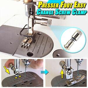 1/3/5Pc Presser Foot Easy Change Screw Clamp Sewing Machine Presser Foot Changer
