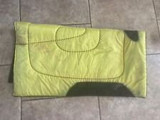 Used yellow western saddle pad
