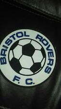 "Bristol rovers fc vintage 80.s 6"" printed  sew patch.large coat.T.Sirt"