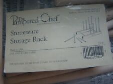 Pampered Chef Stoneware Storage Rack Wood #2141