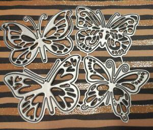 4 Stk. Stanzschablone Schmetterlinge Cutting Dies Stanzschablonen Schmetterling